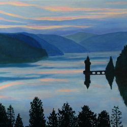 Dusk over Lake Vyrnwy