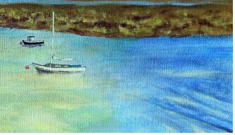 Evening, Dyfi estuary - detail