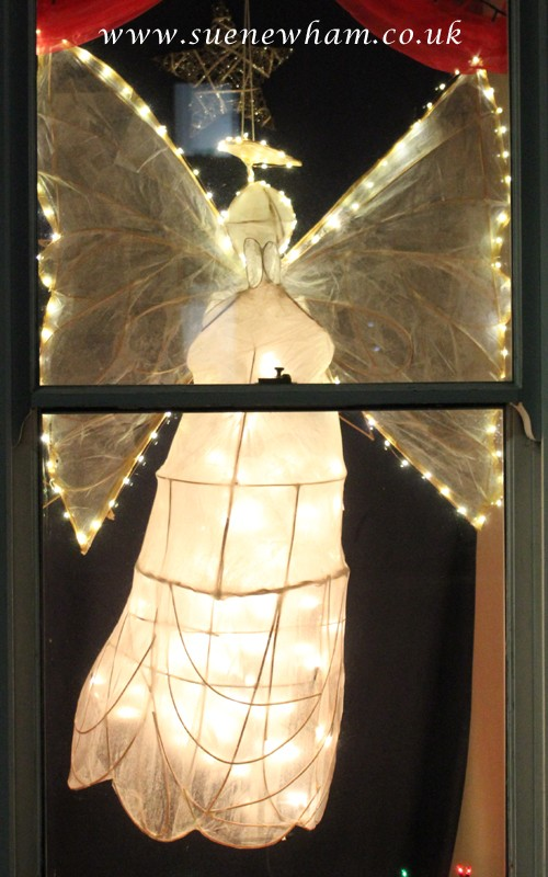 Angel lantern lit