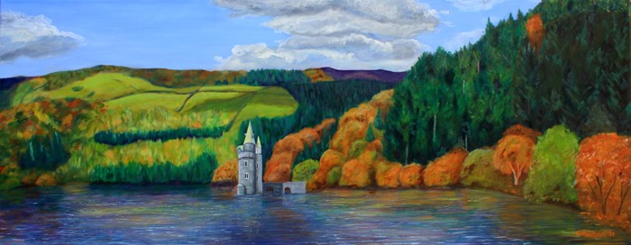 Twr Efyrnwy, the tower on Lake Vyrnwy